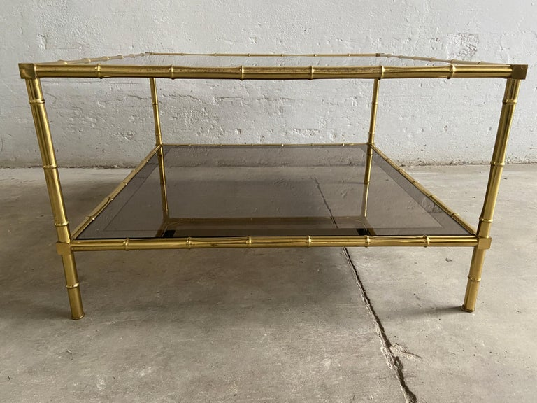 Mid-Century Modern French Two-Tier Maison Baguès Coffee or Sofa Table, 1960s For Sale 2