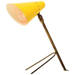 Mid-Century Modern French Yellow Cocotte Table or Wall Lamp, France, 1950s
