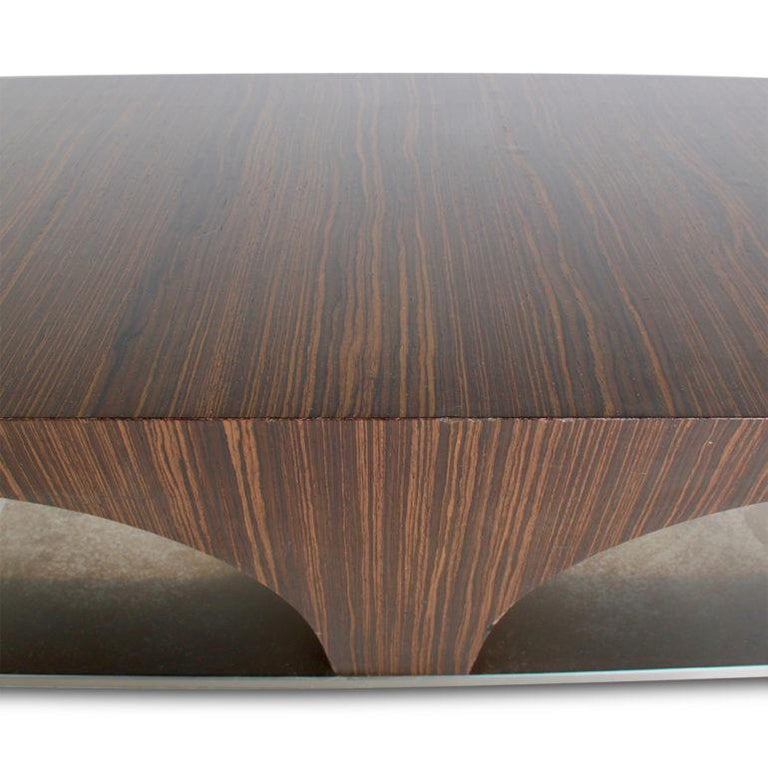 Mid-Century Modern French Zebrano Coffee Table For Sale At