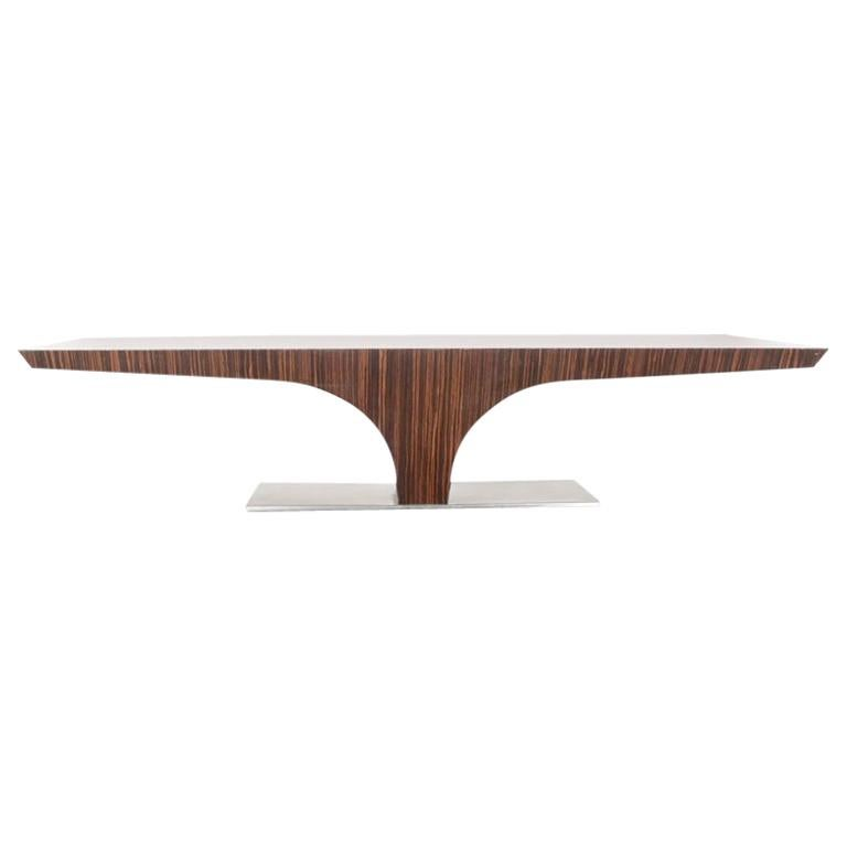 Mid-Century Modern French Zebrano Coffee Table