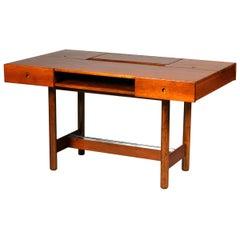 Mid-Century Modern Fruitwood Writing Desk by Saporiti
