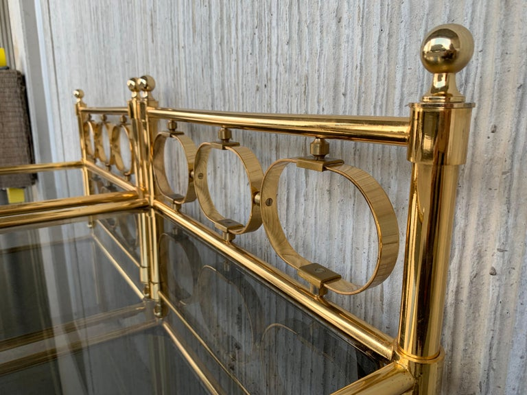 Mid Century Modern Full Brass Headboard Featuring Gometrical FIgures For Sale 7