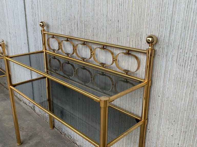 Mid Century Modern Full Brass Headboard Featuring Gometrical FIgures For Sale 12