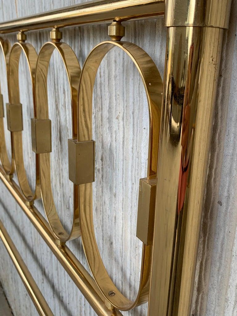 Mid-Century Modern Mid Century Modern Full Brass Headboard Featuring Gometrical FIgures For Sale