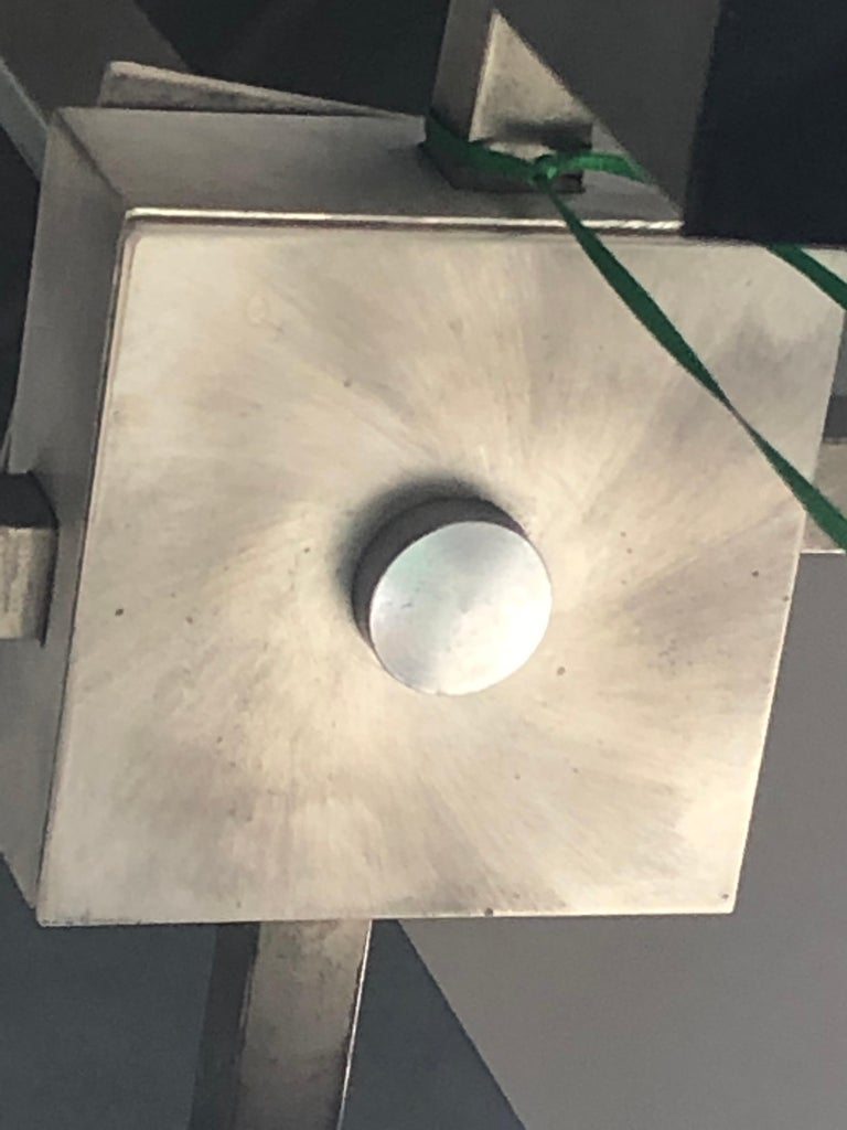 Mid-Century Modern Gaetano Sciolari Mod Chrome & Lucite Geometric Chandelier For Sale 4