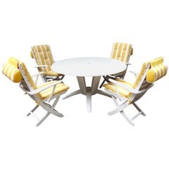 """Mid-Century Modern Garden or Patio Set """"Rivièra"""" by French Maker Triconfort"""