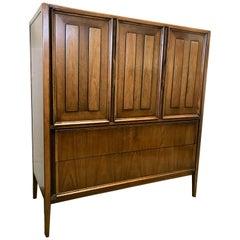 Mid-Century Modern Gentlemen's Chest Cabinet Dresser Thomasville Wardrobe