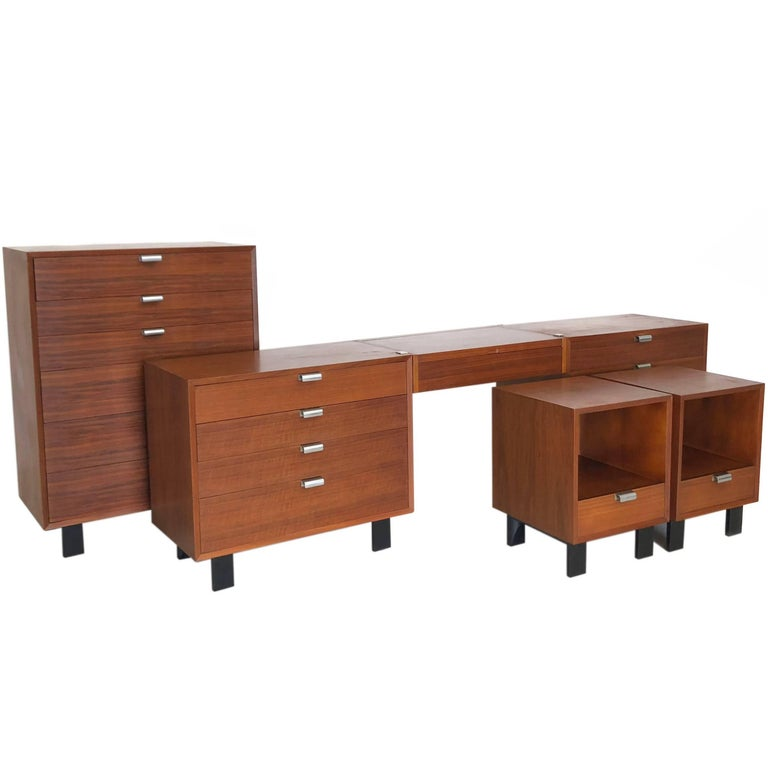 Mid-Century Modern George Nelson for Herman Miller Double Dresser with Floating