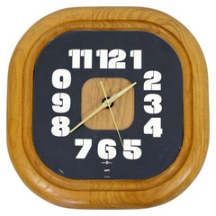 Mid-Century Modern George Nelson Howard Miller Square Wood Wall Clock, 1960s