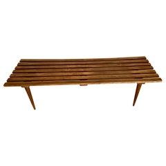 Mid-Century Modern George Nelson Inspired Slat Bench