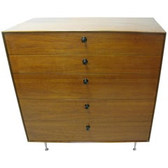 Mid-Century Modern George Nelson Thin Edge Teak Five-Drawer Dresser