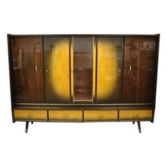 Mid-Century Modern German Atomic Era Large China Display Cabinet Bar Unit