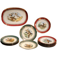 Mid-Century Modern German Bavaria Dishes and Tray Chinaware Porcelain Set