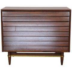 Mid-Century Modern Gershun American of Martinsville Walnut Lowboy Dresser, 1950s