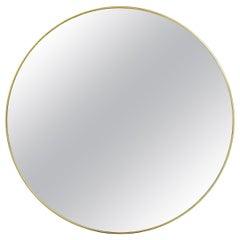 Mid-Century Modern Gilt Mirror, Clear