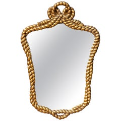 Mid-Century Modern Gilt Rope and Tassel Mirror