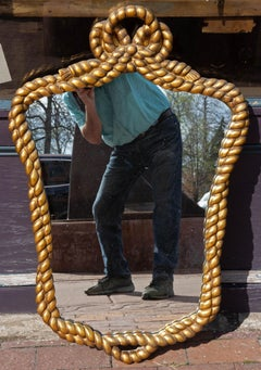 Mid Century Modern Gilt Rope and Tassel Mirror