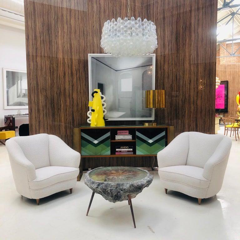 Mid-Century Modern Gio Ponti Pair of Italian Armchairs for Casa e Giardino For Sale 6