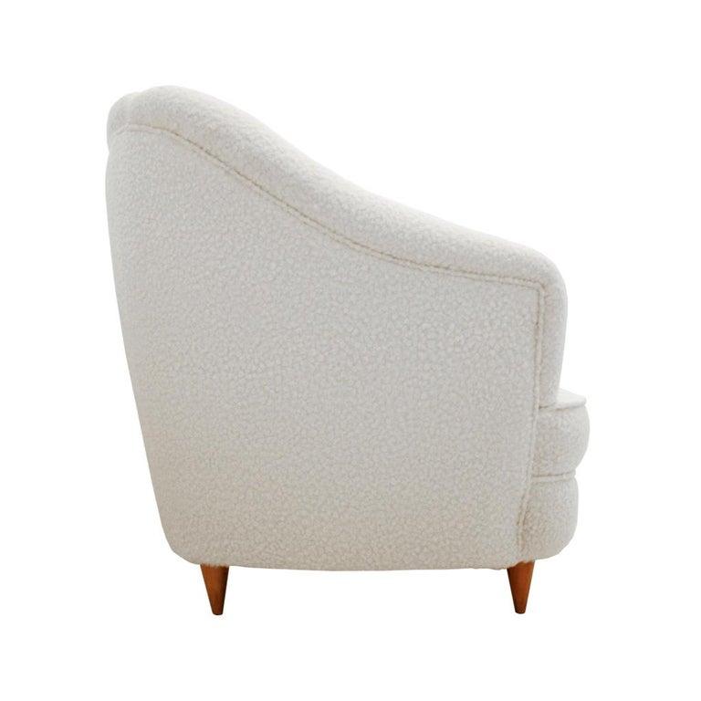 Wood Mid-Century Modern Gio Ponti Pair of Italian Armchairs for Casa e Giardino For Sale