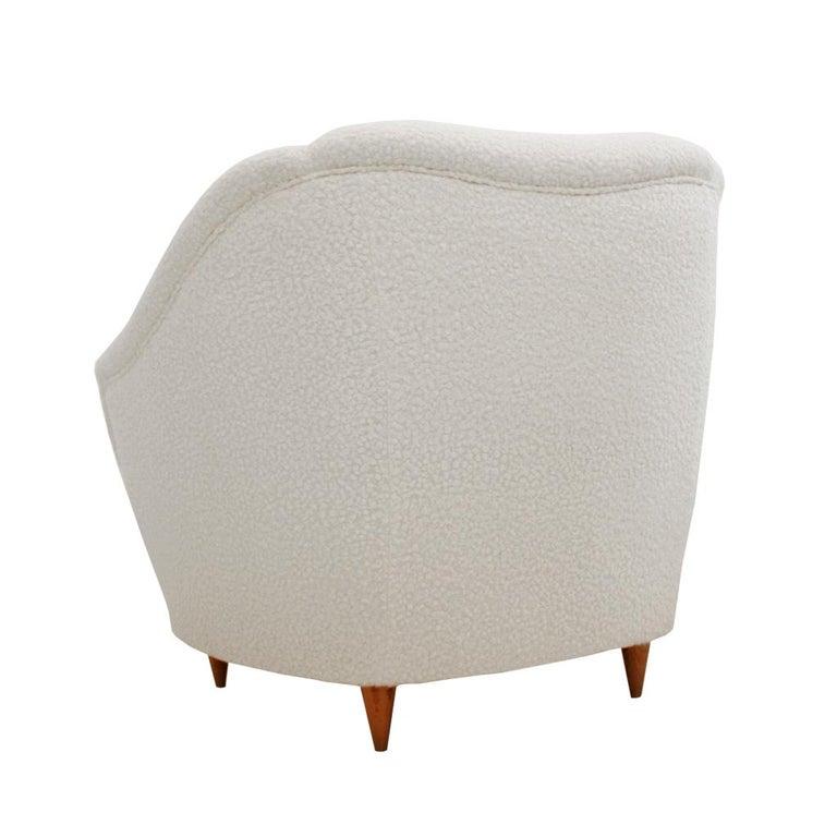 Mid-Century Modern Gio Ponti Pair of Italian Armchairs for Casa e Giardino For Sale 2