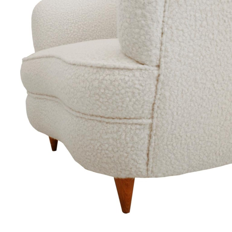Mid-Century Modern Gio Ponti Pair of Italian Armchairs for Casa e Giardino For Sale 4