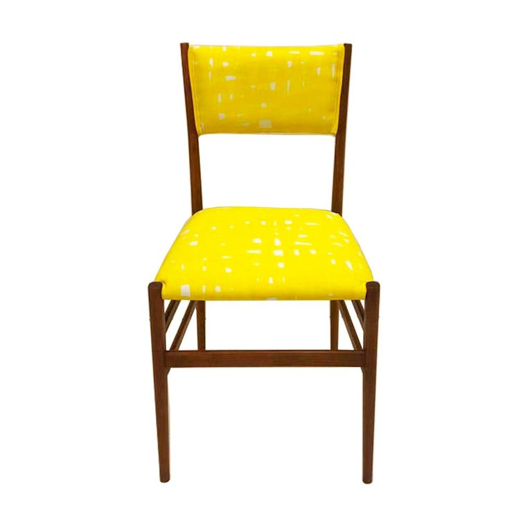 Mid-Century Modern Gio Ponti Set of Four 'Leggera' Ashwood Italian Chairs, 1951 In Good Condition For Sale In Madrid, ES