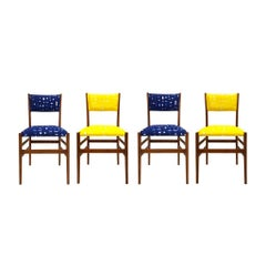 Mid-Century Modern Gio Ponti Set of Four 'Leggera' Ash Wood Italian Chairs, 1951