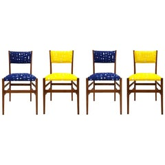 Mid-Century Modern Gio Ponti Set of Four 'Leggera' Ashwood Italian Chairs, 1951
