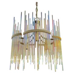 Mid-Century Modern Glass Chandelier