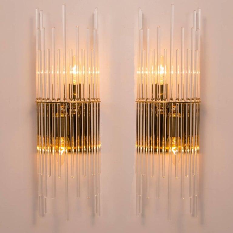 Mid-Century Modern Glass Rod Waterfall Flush Mount Sciolari for Lightolier, 1970 For Sale 2