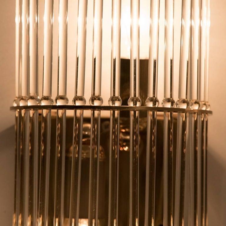 Mid-Century Modern Glass Rod Waterfall Flush Mount Sciolari for Lightolier, 1970 For Sale 3