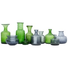 Mid-Century Modern Glass Vases by Erik Höglund for Boda, Sweden, Group of 10