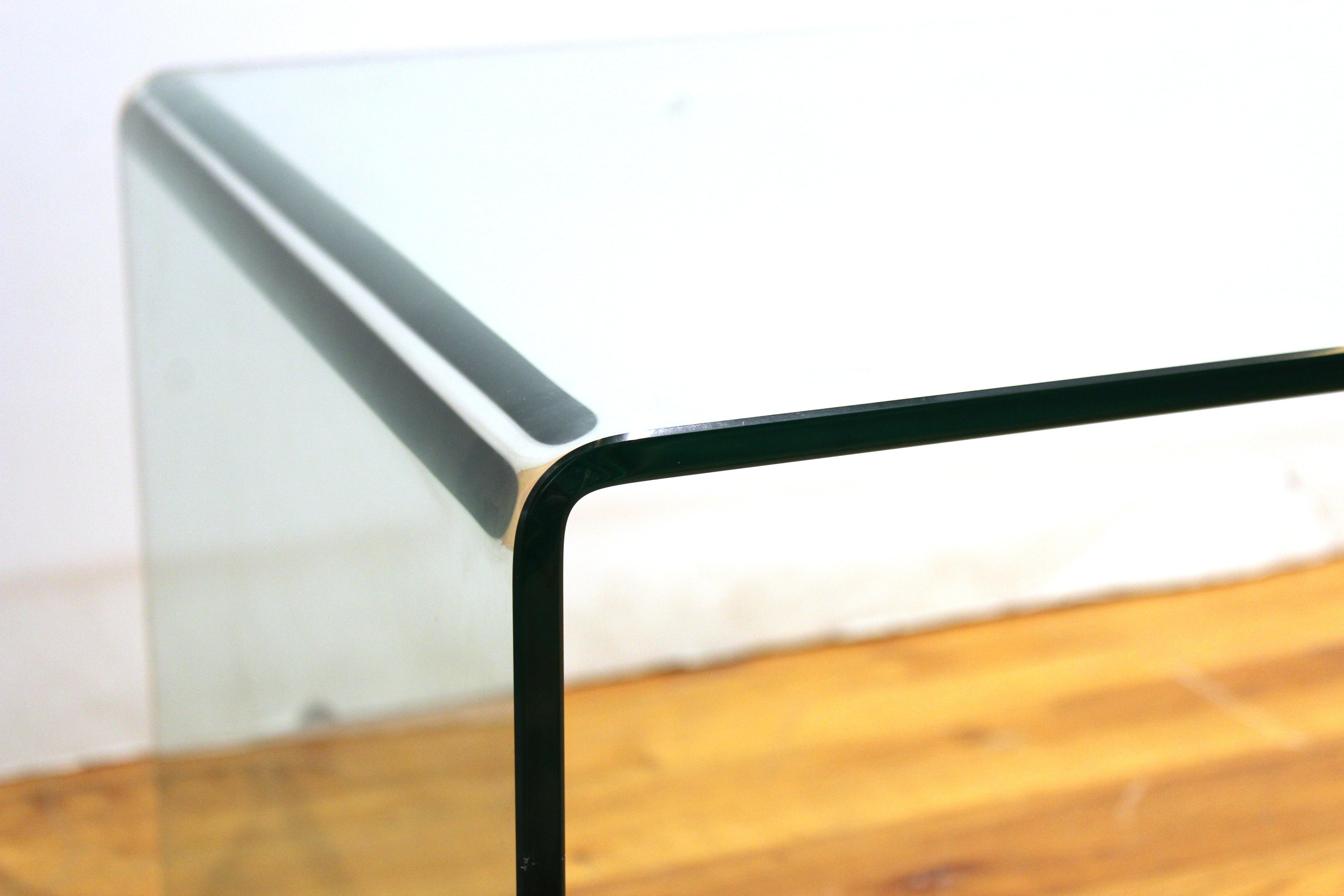 Mid Century Modern Glass Waterfall Coffee Table