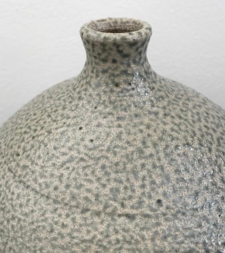 American Mid-Century Modern Glazed Ceramic Stoneware Vase by Michael Kreisberg For Sale