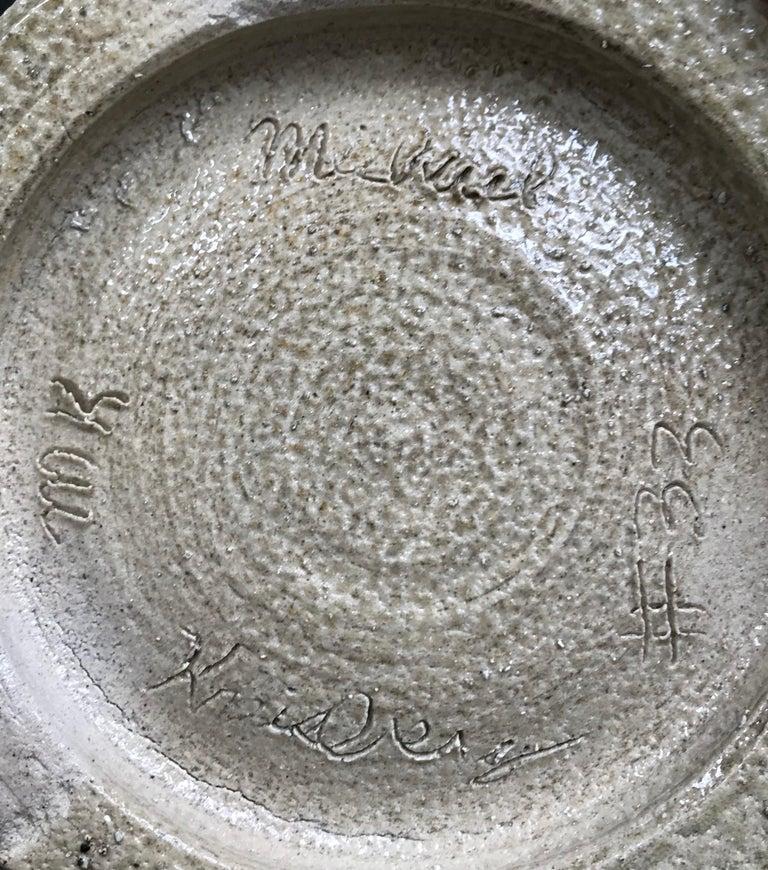 20th Century Mid-Century Modern Glazed Ceramic Stoneware Vase by Michael Kreisberg For Sale