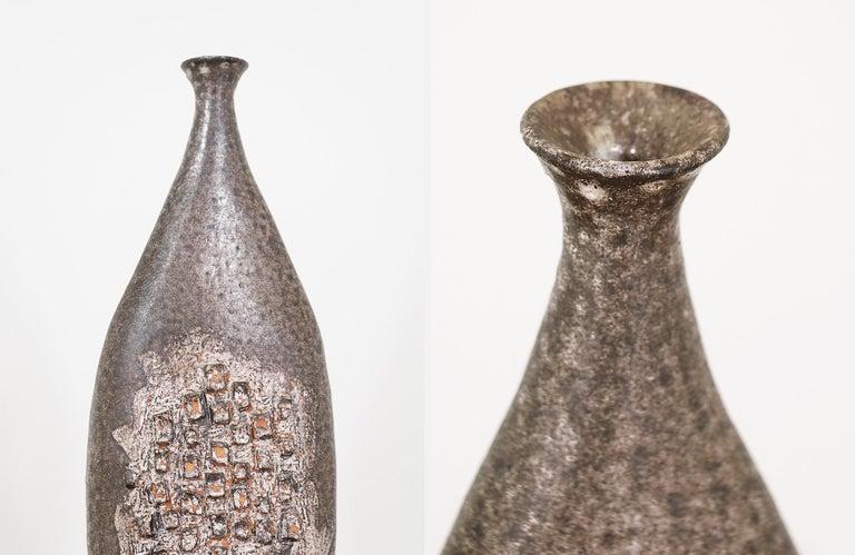 Mid-20th Century Mid-Century Modern Glazed Ceramic Vase For Sale