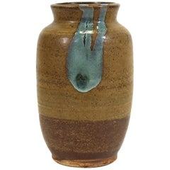 Mid-Century Modern Glazed Studio Pottery Vase
