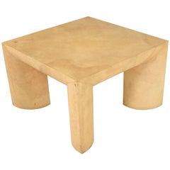 Mid-Century Modern Goatskin Coffee Table Style of Karl Springer