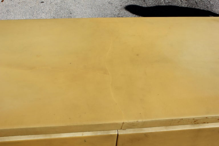 Mid-Century Modern Goatskin Sideboard with Brass Detail 1970s For Sale 6