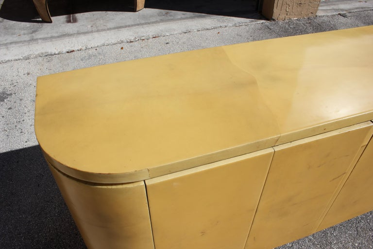 Mid-Century Modern Goatskin Sideboard with Brass Detail 1970s For Sale 7