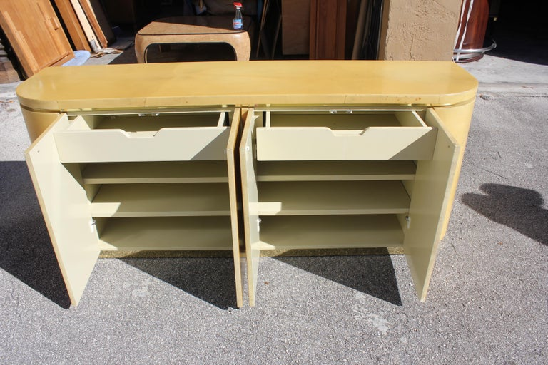 Mid-Century Modern Goatskin Sideboard with Brass Detail 1970s For Sale 10