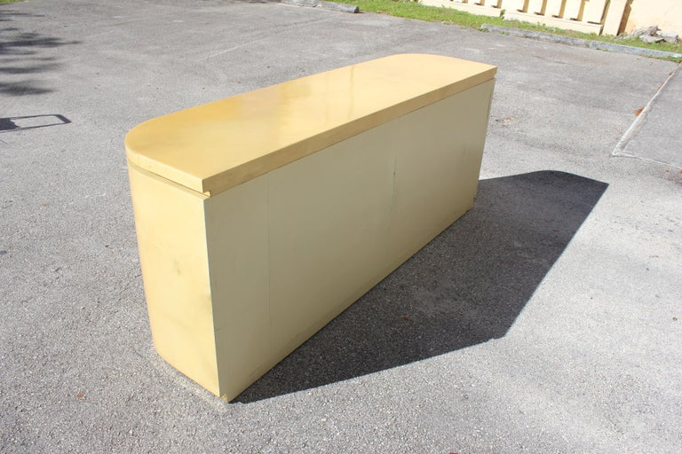 Mid-Century Modern Goatskin Sideboard with Brass Detail 1970s For Sale 14