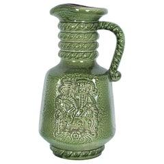 Mid-Century Modern Green Ceramic Vase