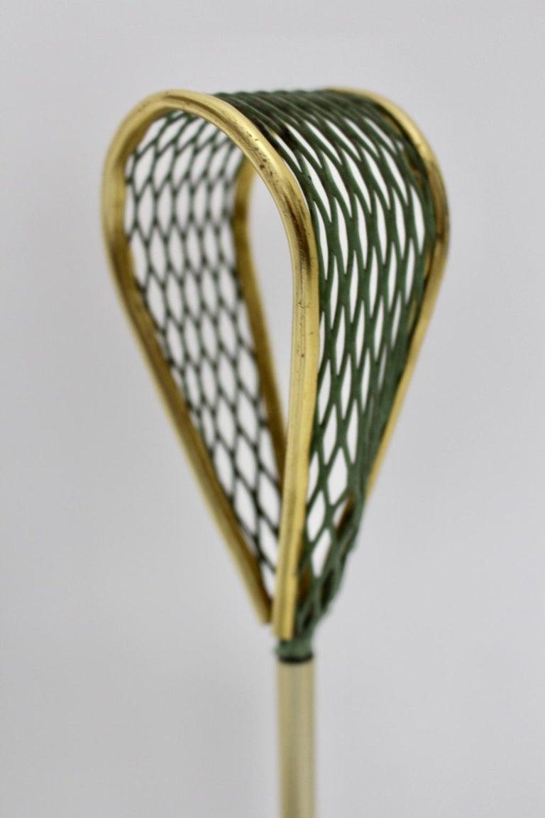 Mid-Century Modern Green Metal Vintage Umbrella Stand Schiwa Luxus, 1950s For Sale 8