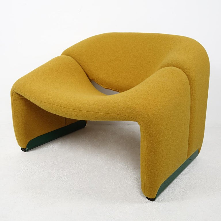 The Groovy chair, or F598, was designed in 1973 by France's top designer Pierre Paulin for Holland's most Avant-Garde furniture maker Artifort. The compactness of the chair combined with great comfort and of course its iconic looks made this chair