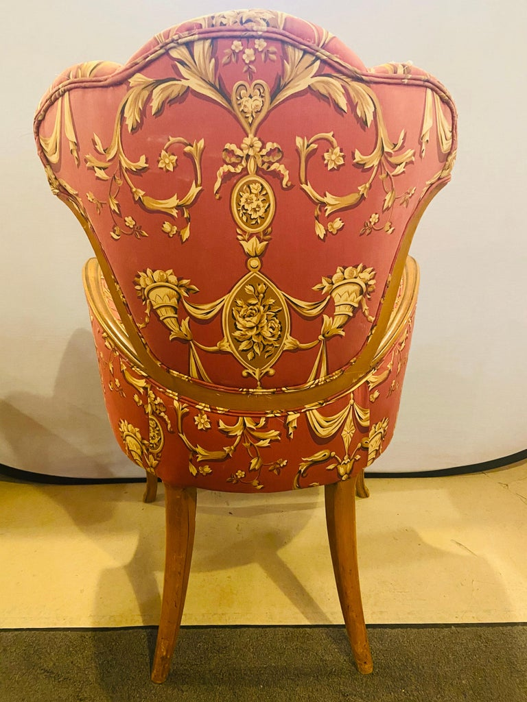 Mid-Century Modern Grosfeld House Sweetheart Chairs, a Fine Carved Pair For Sale 7
