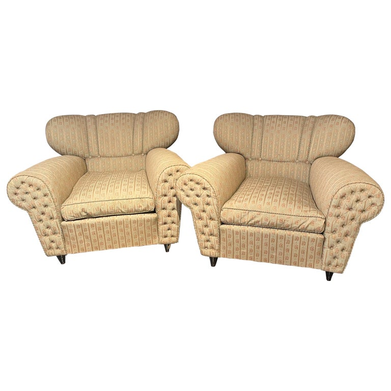 Mid-Century Modern Guglielmo Ulrich Lounge Chairs a Pair For Sale