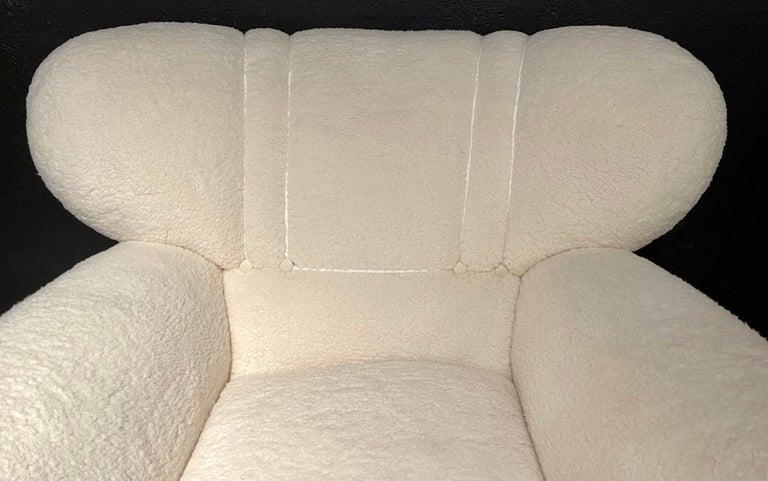 Mid-Century Modern Guglielmo Ulrich Lounge Chairs a Pair, Plush Sherpa Design 6