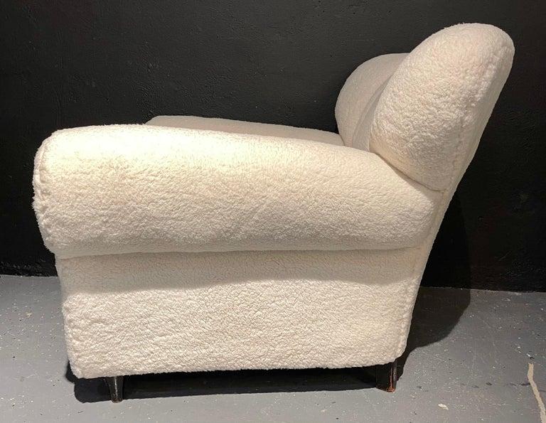 Mid-Century Modern Guglielmo Ulrich Lounge Chairs a Pair, Plush Sherpa Design 7