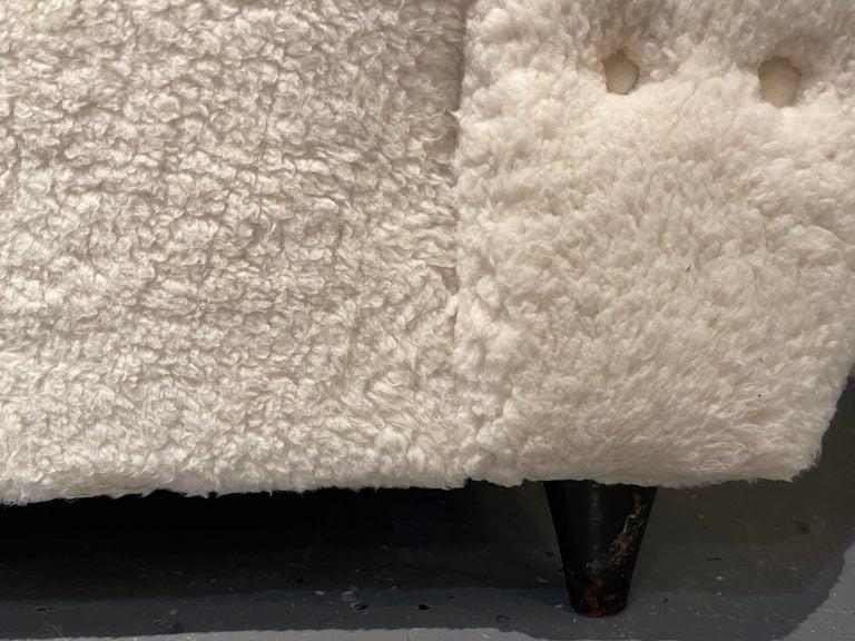 Mid-Century Modern Guglielmo Ulrich Lounge Chairs a Pair, Plush Sherpa Design 8